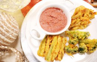 Fried Veggies with Chickpeas Batter and Ancient Modenese Sauce