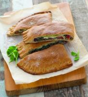 Kamut Calzone with Spinach